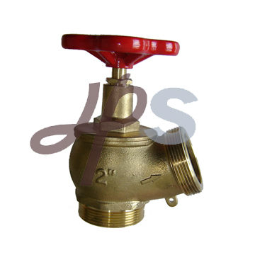 brass landing hose fire valve with 30 degree outlet