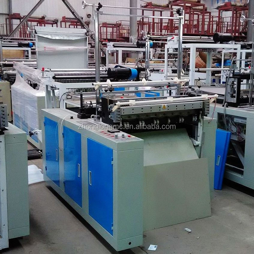 Plastic flat rubbish bag making machine
