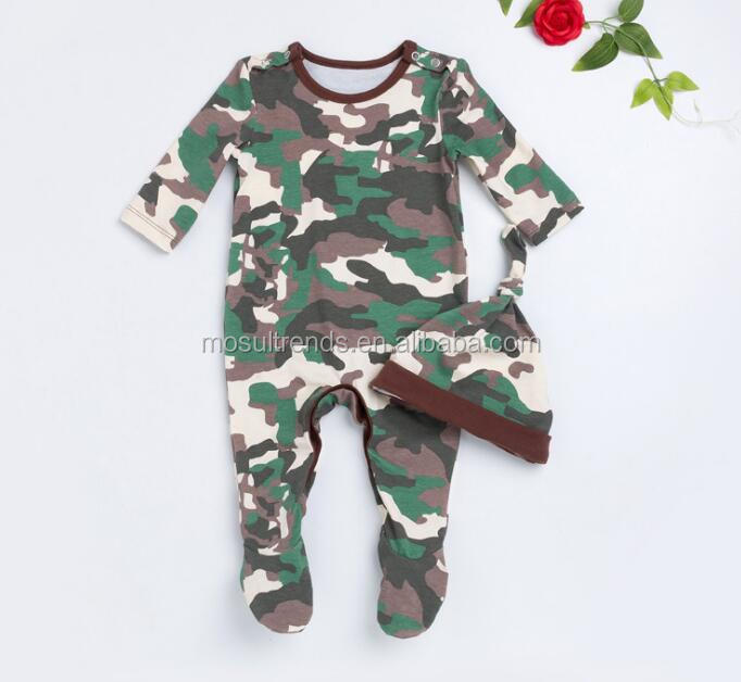 Camouflage Baby Boy clothing set For Newborns Clothes Winter Full Long Sleeve Jumpsuit