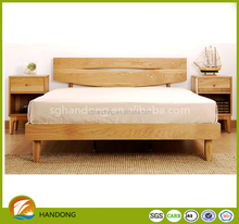 Natural Solid Wood, Pine Solid Wooden Super King Size Bed For Bedroom