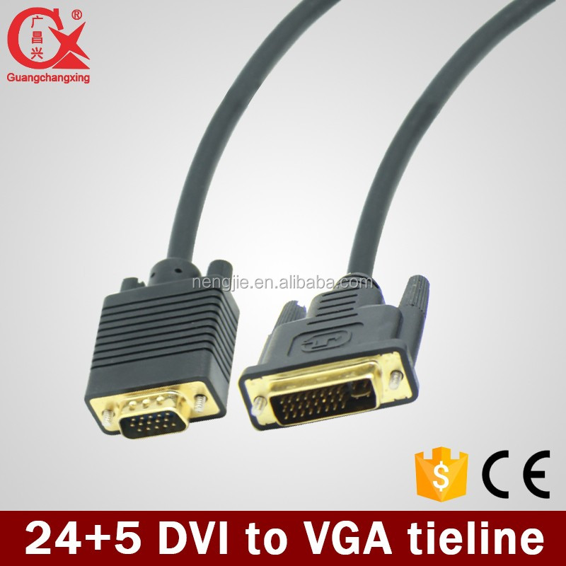1080P HD dvi to dvi cable with Metal Cover 24+5 Pin av cable/audio/ video cable