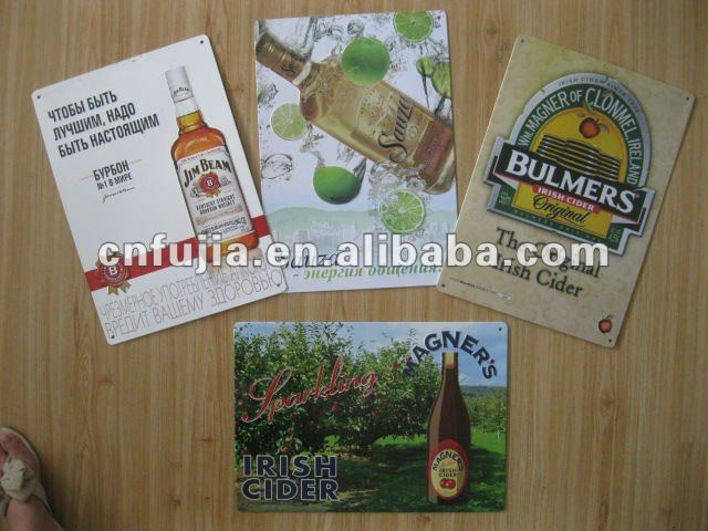 customad metal sign,tin signs wall hanging,tin beer sign