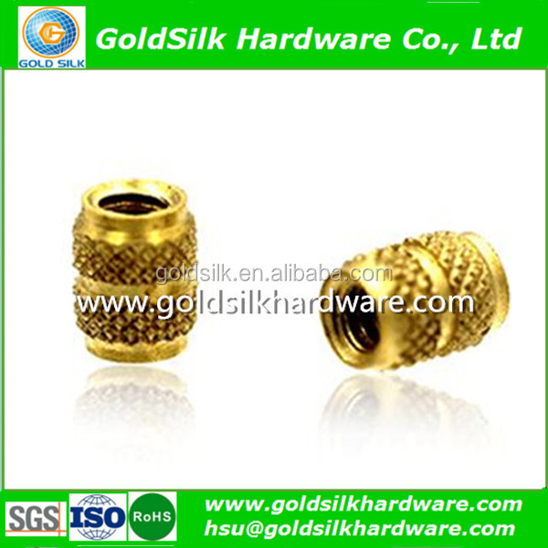 China Manufacturer OEM High Quality Brass Knurled Insert for Plastic M3