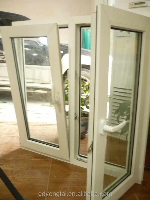 factory directly sell upvc tilt and turn window with mosquito net cheap house windows for sale