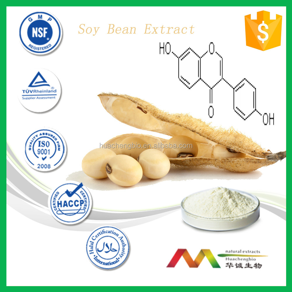 Women health product Natural Soybean Extract ,10~80% Isoflavines