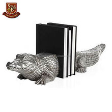 New product resin sliver color crocodile design unique custom bookends
