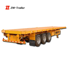 3-axles Flatbed Container Semi Trailer 20ft flatbed truck dimensions