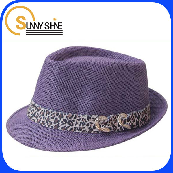 Sunny Shine fitted purple fedora party hat