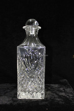 Embossed square glass bottle new design Bacardi glass bottle for spirits
