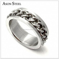 Very Cool Chain Rings For Mens 316 Stainless Steel for men Free Shipping titanium men's ring design jewelry