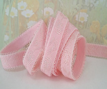 Satin Elastic Light Pink band Trim Ribbon 1/2 inch for Headbands Bra Strap Lingerie Waistband Elastic by the yard