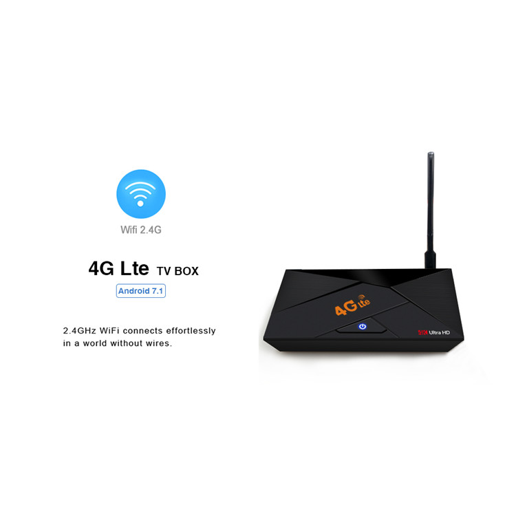 android 7.1 tv box 4G lte Rk3229 2G 16G set top box with 2.4G wireless tv box with 4G sim card