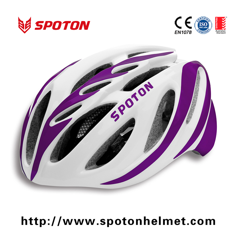 China export novelty cycle helmets with CE certificate PC + EPS material bike helmet