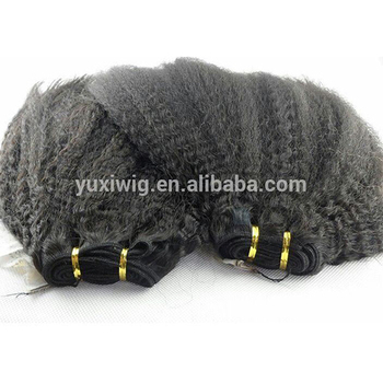 Virgin Mongolian Kinky Straight Hair Weft,Silky Kinky Curly Weft