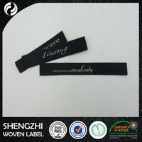 Wholesale china products 2015 clothing woven label,woven loop fold label,custom woven labels low minimum manufacturers