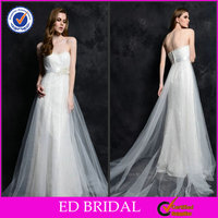 Charming Tulle Pearl-Flower Sash Wedding Dresses by Crystal Trade Co. Ltd