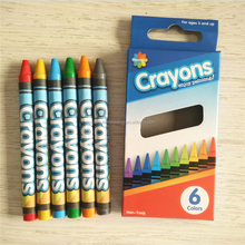 High quality Non-toxic crayon 6 pack
