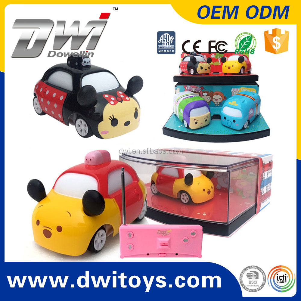 DWI 8016 4CH Cartoon RC Car Mini RC Truck 27/40MHZ Radio Control Cute Toys