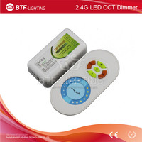 2.4G remote RF color temperature adjustable controller + led ww cw controller