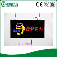 Variable color indoor use neon open letter sign for sale