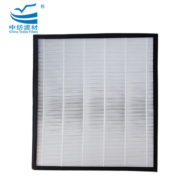 High Efficiency China Top Odor Removal Purifier Hepa Pleat Air Filter With Paper Frame