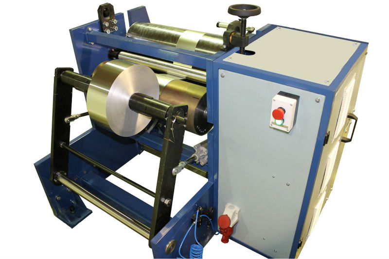SEMIAUTOMATIC REWINDER FOR FOOD FOIL AND BARBER FOIL MODEL PM 10