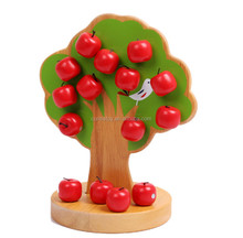 christmas gift ideas for friends hot new products for 2015 kids wood learning fake apple tree oem educational magnetic toy