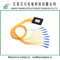 SC/UPC 2.0mm pigtail 1x8 ABS box fiber optic plc splitter
