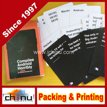 Customized Playing Cards, OEM Party Game Cards, Custom Game Card (431019)