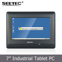Mini 7 inch 16:9 touch lcd screen wall mount win CE 6.0 tft display cheap panel pc
