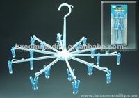 plastic Umbrella clothes hanger with 20 pegs