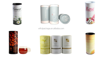 Paper canister with good price paper can round gift box tube box gift tea can colorful cookies paper box
