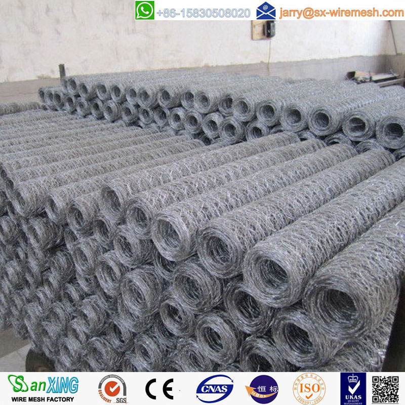 Galvanized hexagonal wire mesh for fence, cage