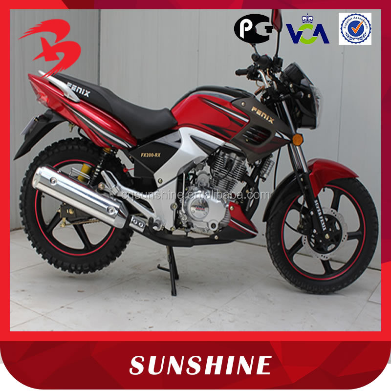 Popular New Design 4-Stroke Gas Powered 200CC Motorbike