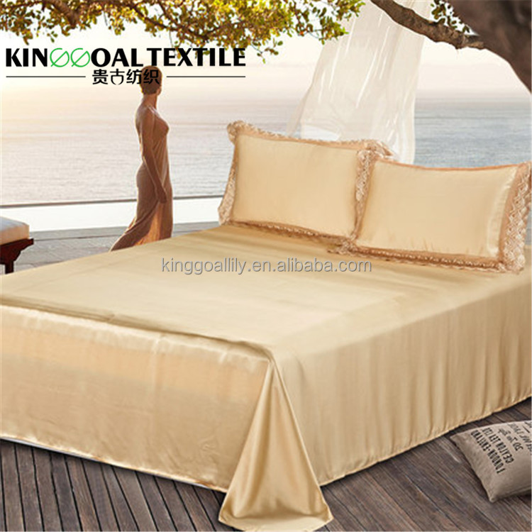 19mm Pure Silk fashion Double size bed sheet design