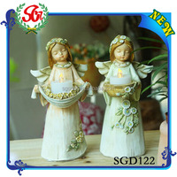 SGD122 Customize 3d home decor christmas angel statue candle holder