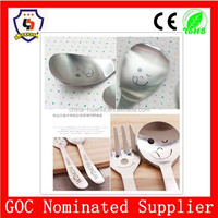 stainless steel spoon and fork set smile cutlery creative decorative spoons