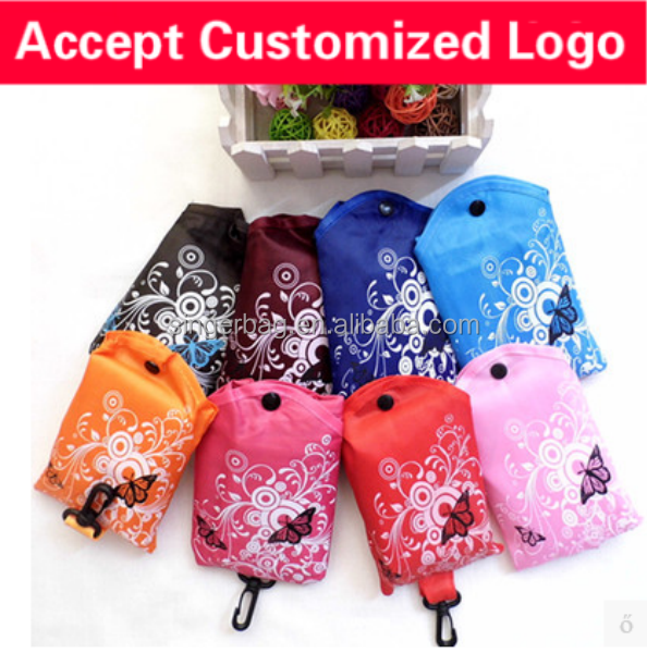 Customizable LOGO butterfly style waterproof increased thickening collapsible shopping bags