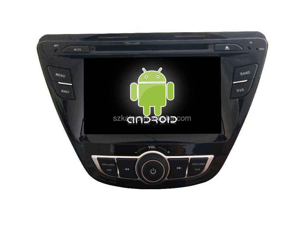 Quad core!car dvd with mirror link/DVR/TPMS/OBD2 for 7inch touch screen quad core 4.4 Android system Hyundai Elantra 2014