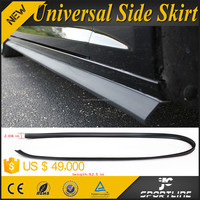 "92.5"" Black Flexible Rubber Auto Car Universal Side Skirt For Sedan Coupe Saloon"
