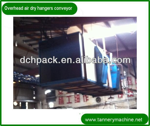 double hook hangers overhead conveyor chain for leather machines