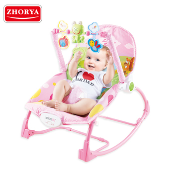 zhorya good quality pink adjustable electric music baby swing rocker for baby care