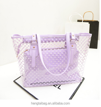 Hot sales waterproof beach handbags the most popular jelly nice package