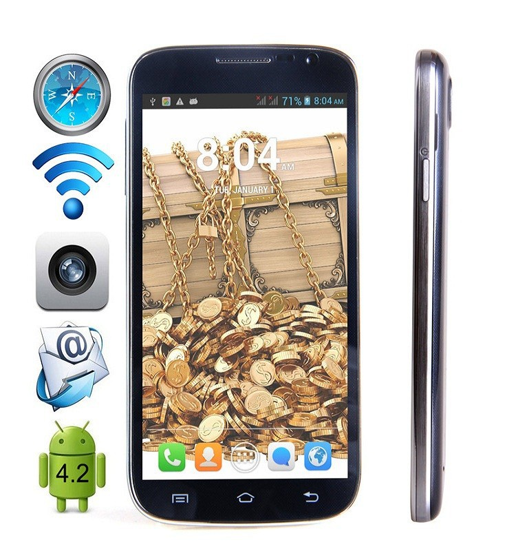 Cubot P9 5.0 Inch QHD TFT Screen Smartphone 3G Android 4.2 MTK6572W Dual Core Cell phone Dual SIM WIFI Bluetooth Mobile Phone