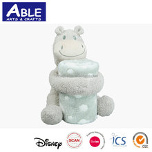 cute gift animal travel toy blanket with toy, toy blanket