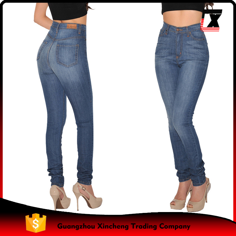 Young girl fashion sexy slim feet denim women skinny jeans