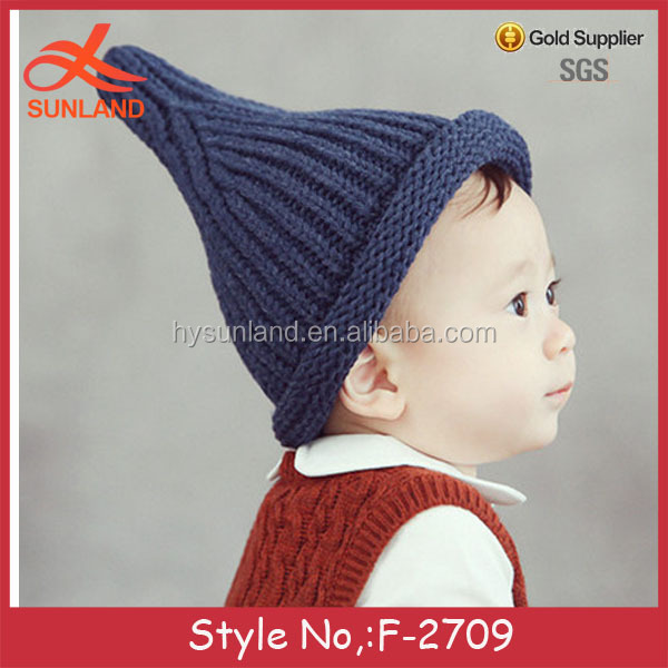 F-2709 new winter baby pacifier hat knitted beanie boy hats for wholesale 2017