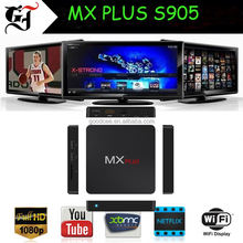 Factory price MX PLUS quad core tv box free sex movie 4K Internet google tv box