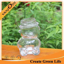 80ml New Idea Glass Gift Candy Jar Bear Shape