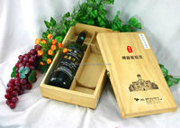 High quality Pine wooden wine box for sale
